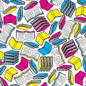 So Many Books... (Cyan, Magenta, Yellow, Black)