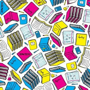 Hit the Books (Cyan, Magenta, Yellow, Black)