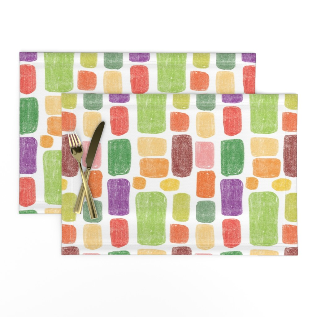 Lamona Cloth Placemats featuring Multicolored stones by sandra_bereg