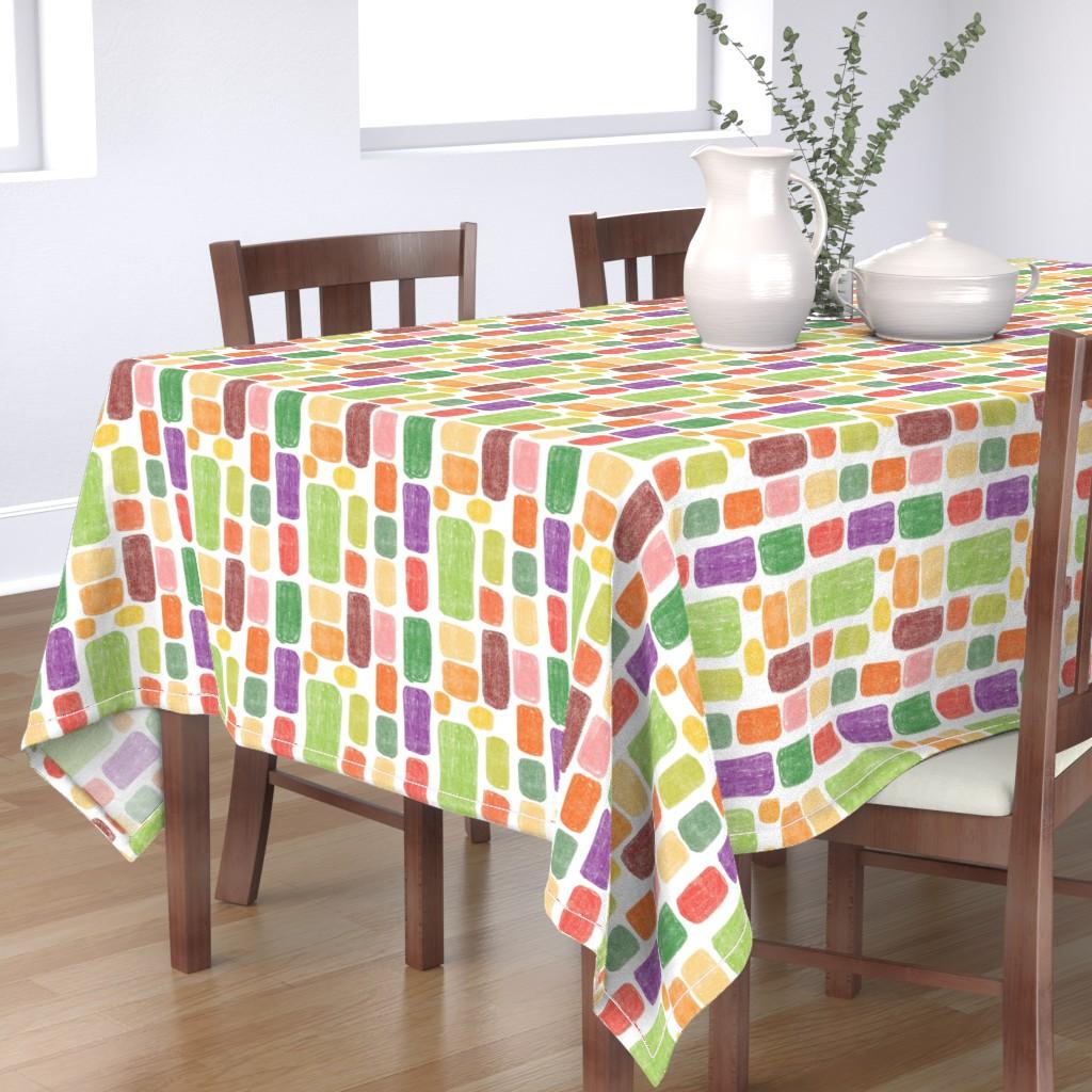 Bantam Rectangular Tablecloth featuring Multicolored stones by sandra_bereg