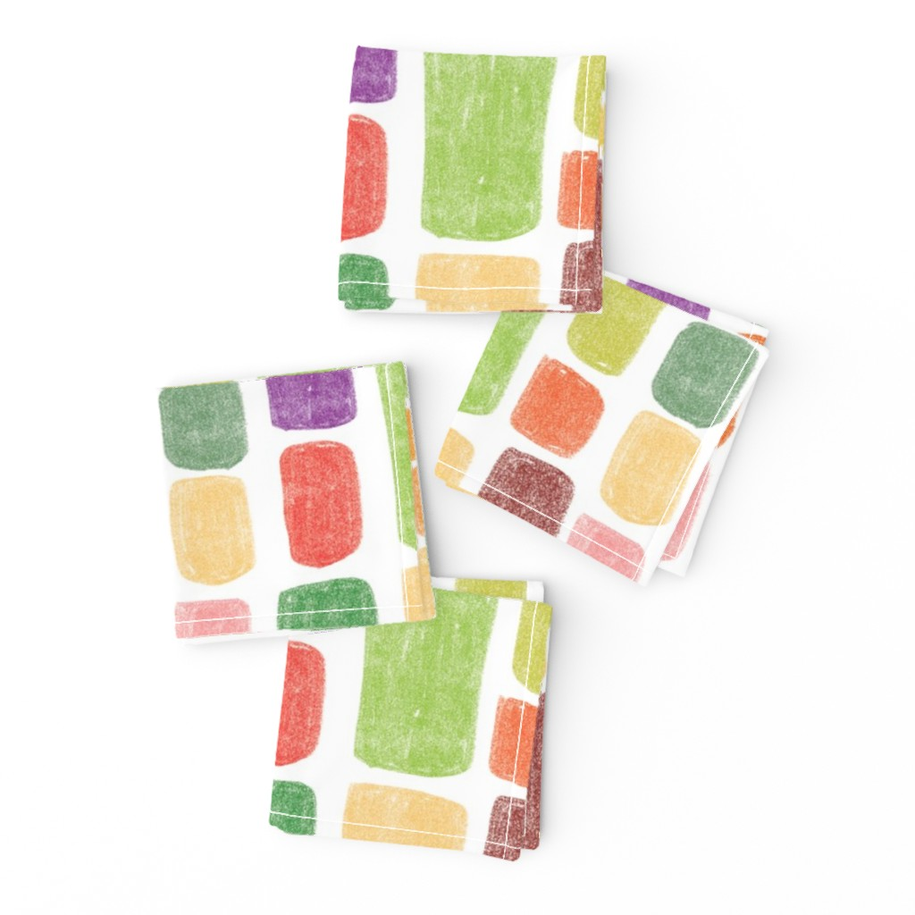 Frizzle Cocktail Napkins featuring Multicolored stones by sandra_bereg