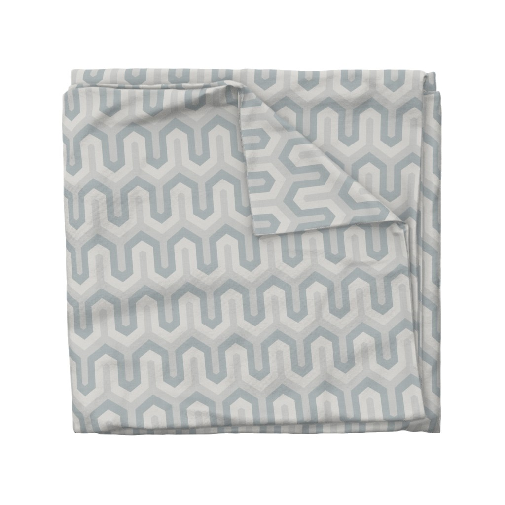 Wyandotte Duvet Cover featuring  grey greek  02 150 by chicca_besso
