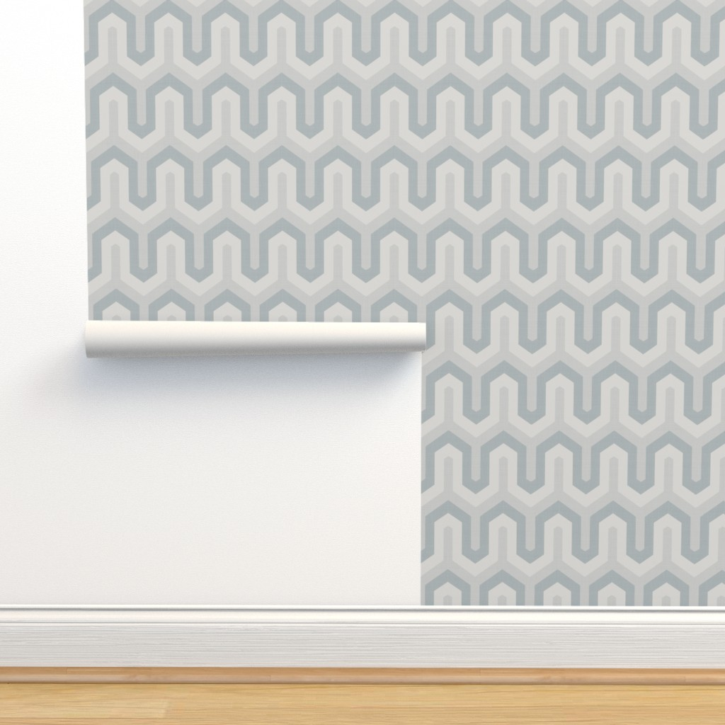 Isobar Durable Wallpaper featuring  grey greek  02 150 by chicca_besso