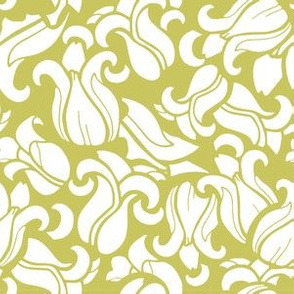 Magnolia Doily - Yellow