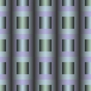 Bauhaus Inspired Geometric Green Purple
