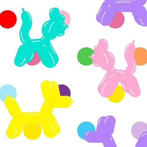 balloon cats dots