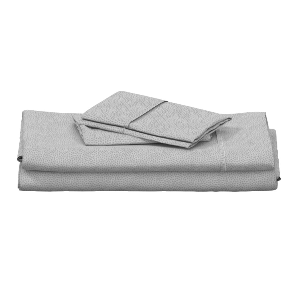"Langshan Full Bed Set featuring simplified petoskey stone, light greyscale, 1/6"" by weavingmajor"