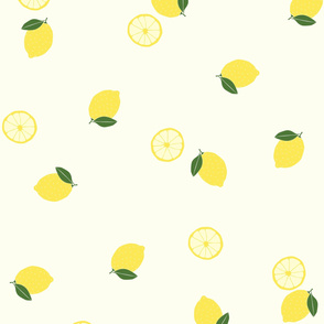 lemons in yellow (small scale)