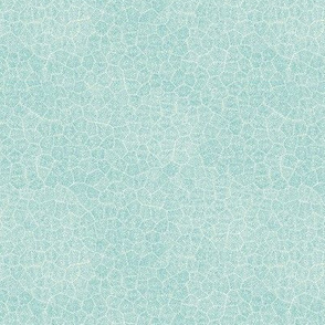 """simplified petoskey stone,  light turquoise on off-white, 1/4"""""""