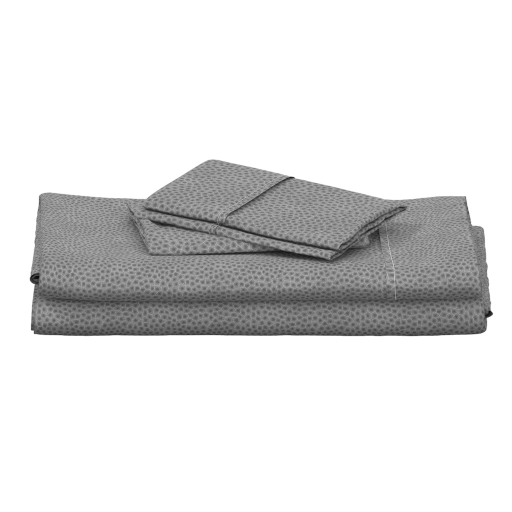 "Langshan Full Bed Set featuring simplified petoskey stone, dark greyscale, 1/4"" by weavingmajor"