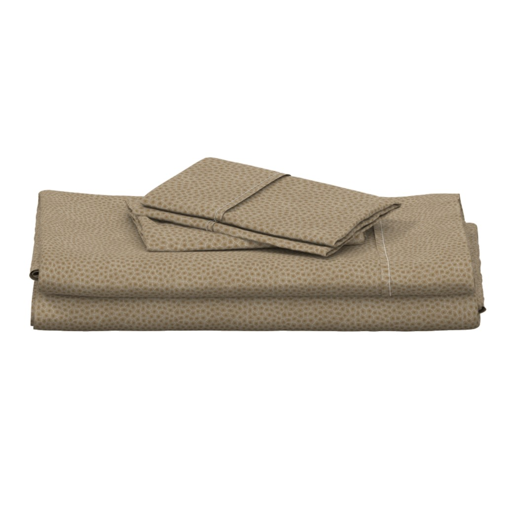 "Langshan Full Bed Set featuring simplified petoskey stone, dark natural, 1/4"" by weavingmajor"