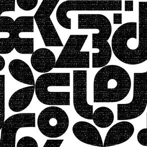 Talk of the Bauhaus-Jumbo large scale black and white