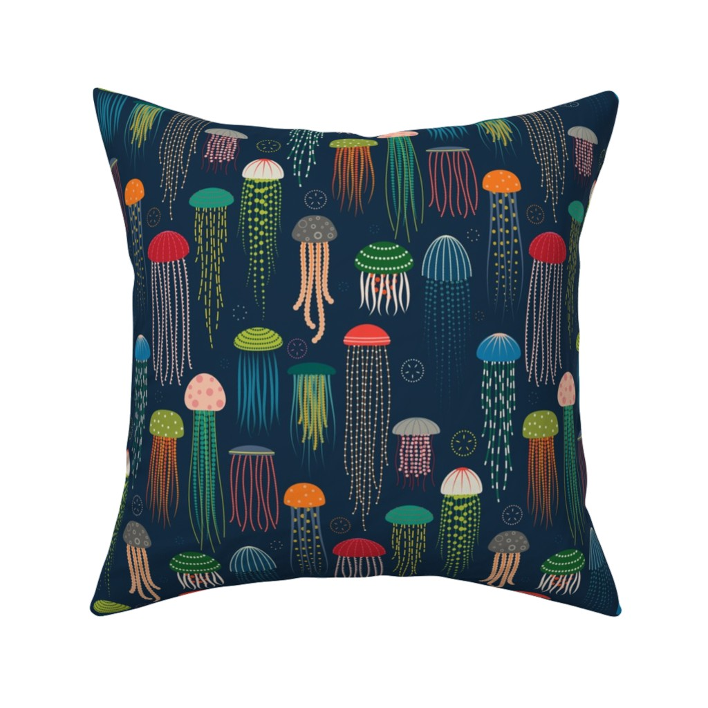 Catalan Throw Pillow featuring Just Jellies - Jellyfish by katerhees