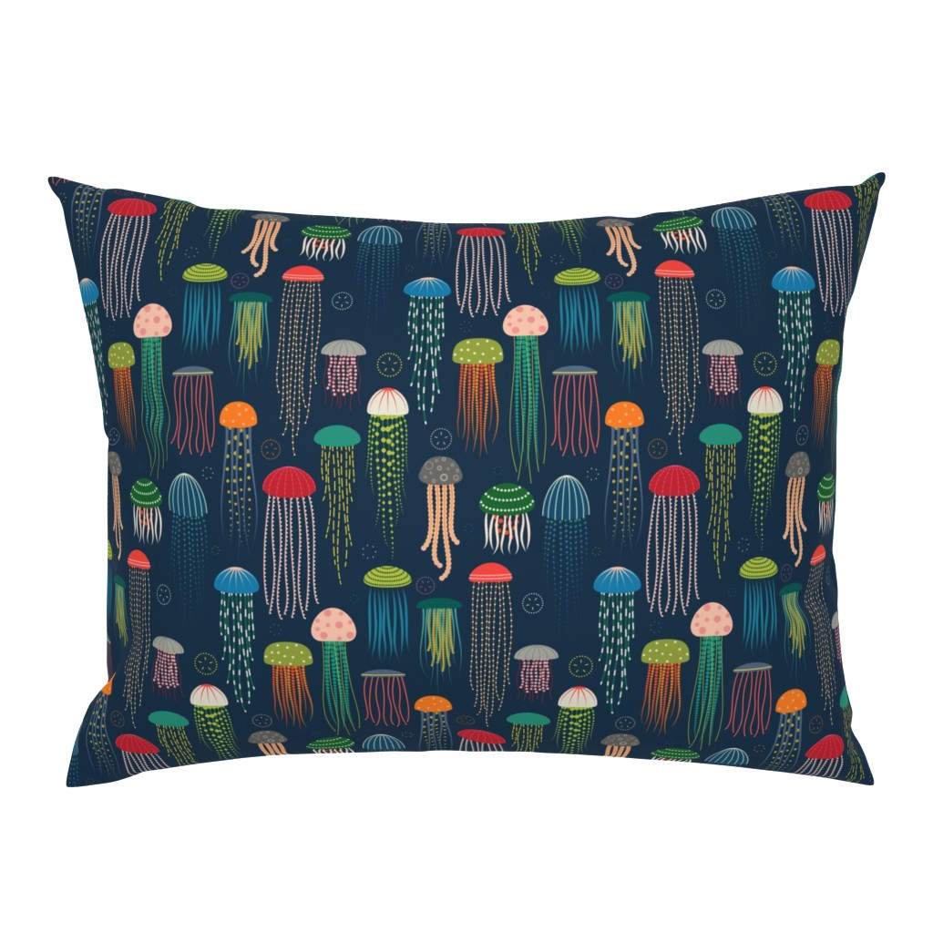 Campine Pillow Sham featuring Just Jellies - Jellyfish by katerhees