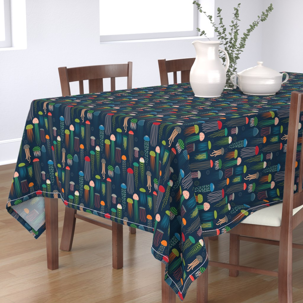 Bantam Rectangular Tablecloth featuring Just Jellies - Jellyfish by katerhees