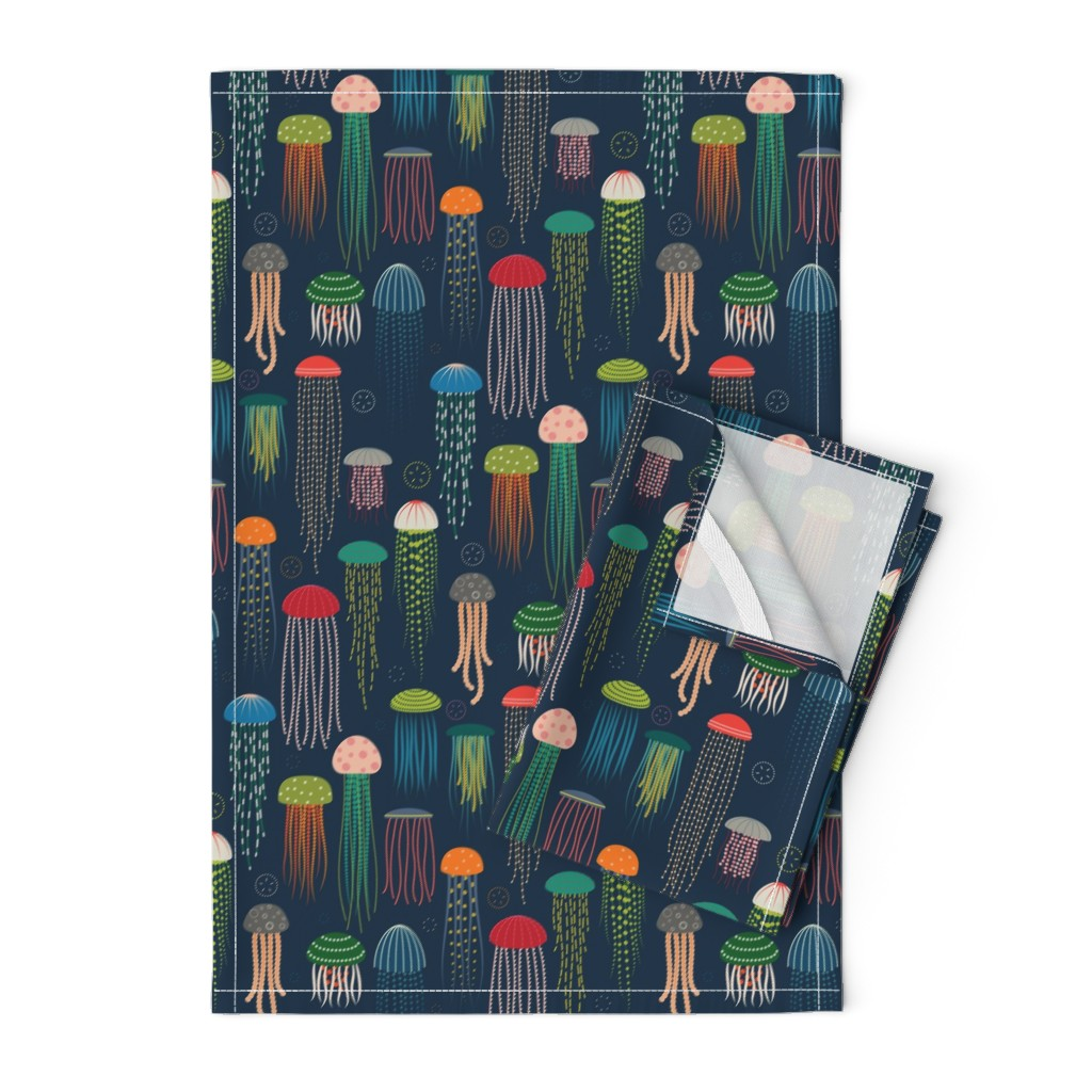 Orpington Tea Towels featuring Just Jellies - Jellyfish by katerhees