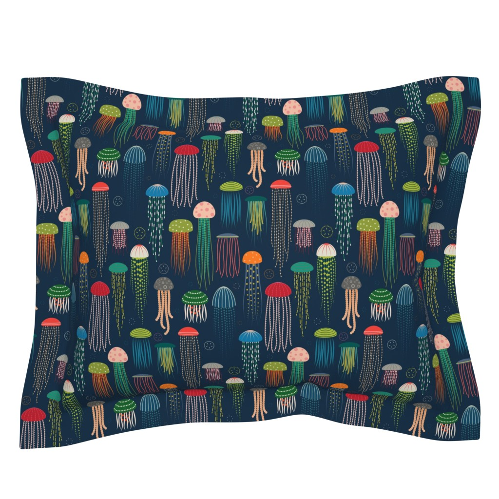 Sebright Pillow Sham featuring Just Jellies - Jellyfish by katerhees