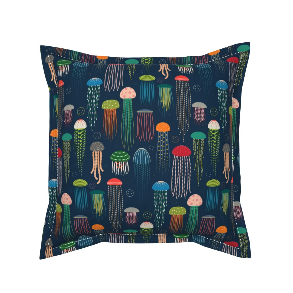Serama Throw Pillow featuring Just Jellies - Jellyfish by katerhees
