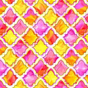 Marrakech Moroccan In Pink, Orange And Yellow - Small
