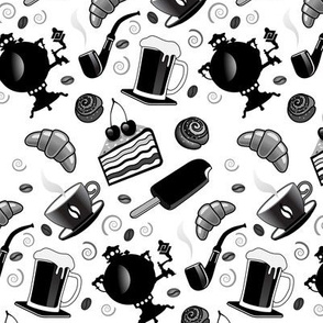 Pattern With Food And Drinks