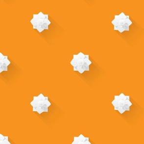 Plaster Flowers On Orange