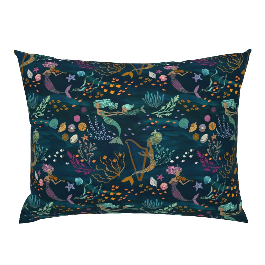 Campine Pillow Sham featuring Mermaid Music by ceciliamok