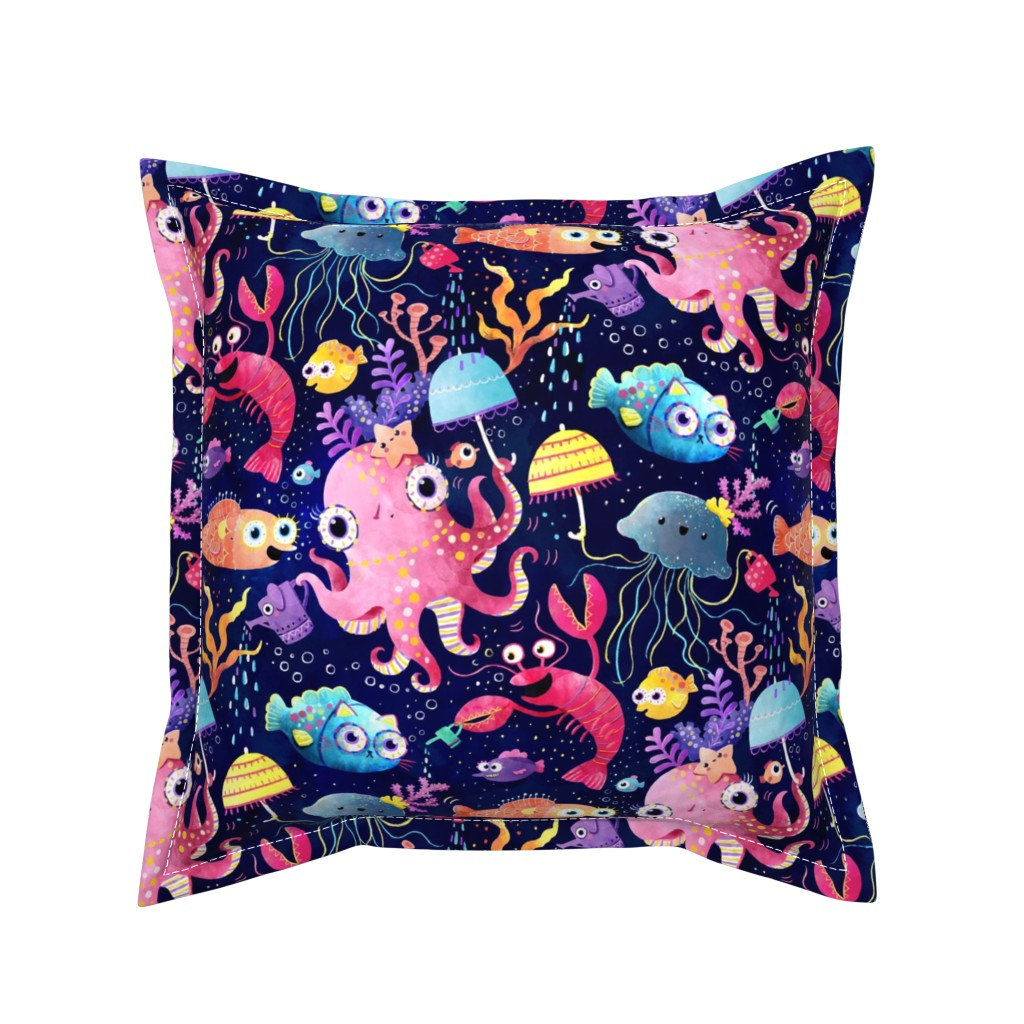 Serama Throw Pillow featuring Underwater buzz by monika_suska
