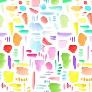Rainbow Brush Strokes