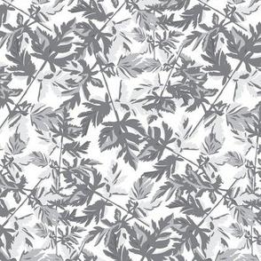 18-06K Leaf Leaves Light Gray Grey White  Tree Neutral Home Decor _ Miss Chiff Designs