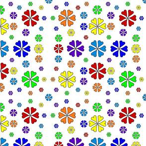 Rainbow Heart Flowers