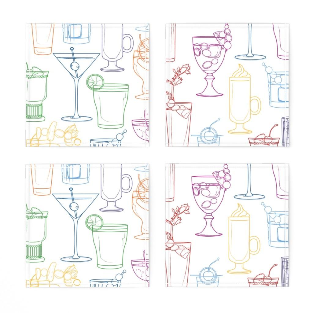 Napkins_Cocktail_four_white