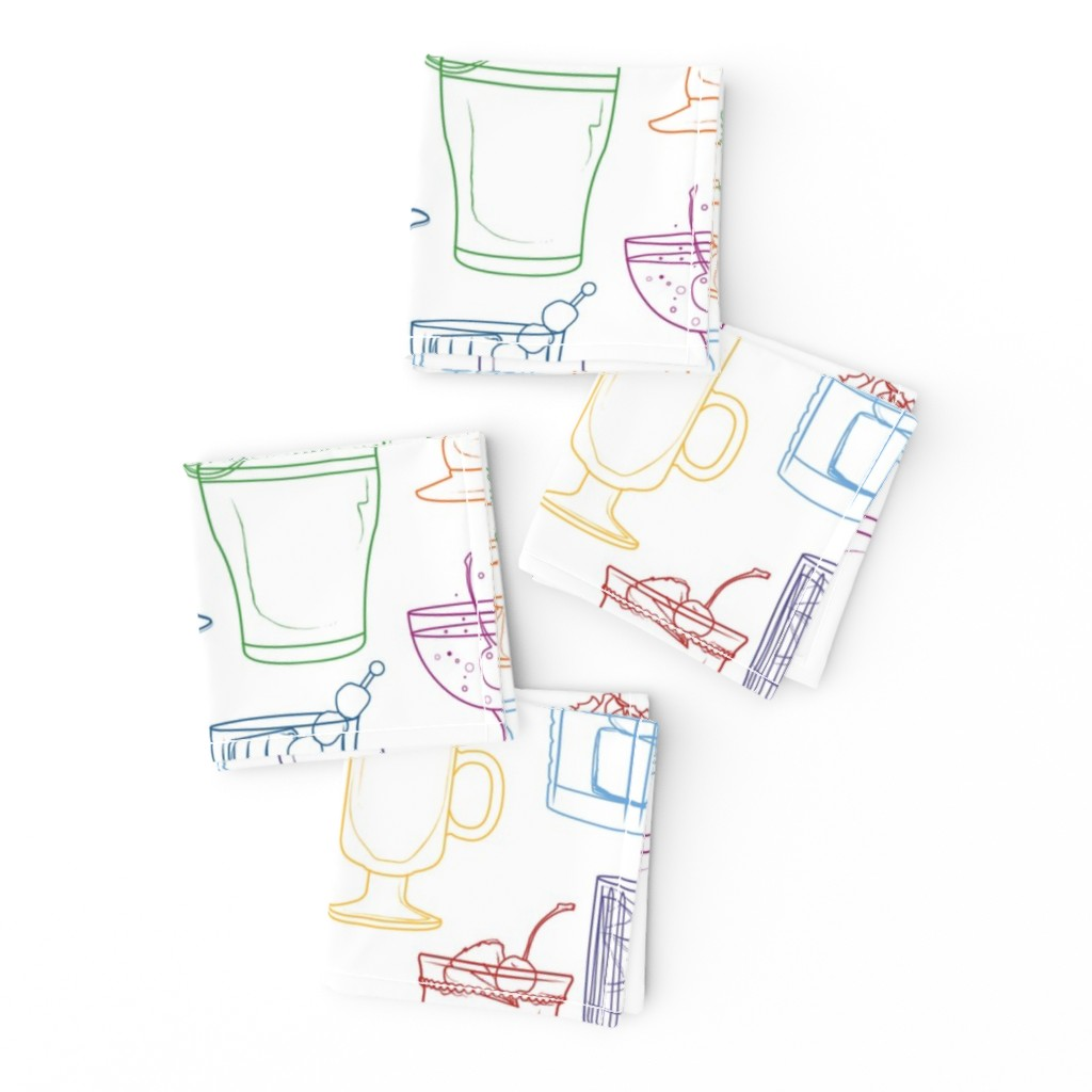 Frizzle Cocktail Napkins featuring Cocktail Party White by markaddison