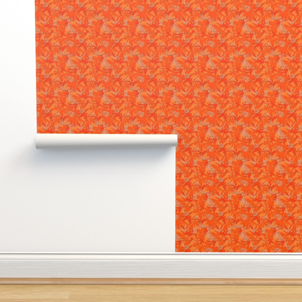 Isobar Durable Wallpaper featuring Orange MJ Camo by camomoto
