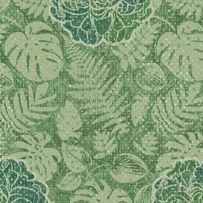 Vintage Tiki Floral Green-SYN