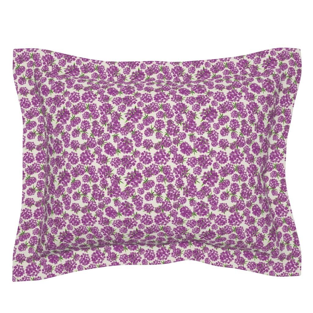 Sebright Pillow Sham featuring Alyssum - Purple by sarah_treu
