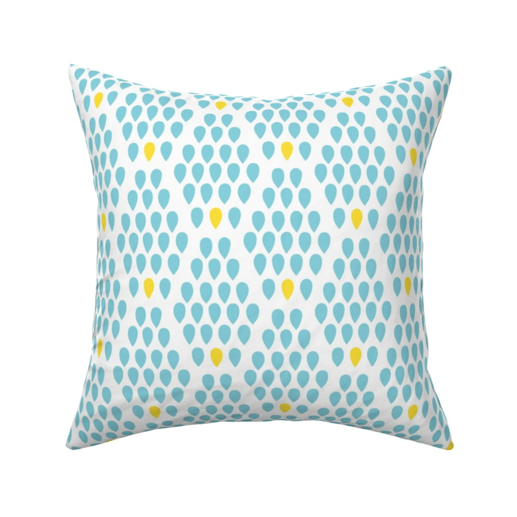 Catalan Throw Pillow featuring Grandma's Garden - coordinate 06, small scale by quirkysewing