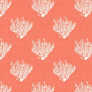 Coral - Red - Linen