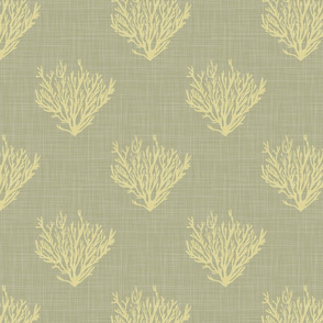 Coral - Straw - Linen