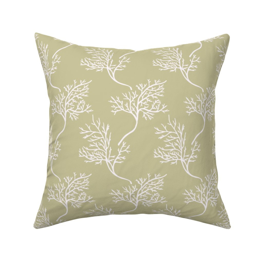 Catalan Throw Pillow featuring Sea Fans on Sand by katie_hayes