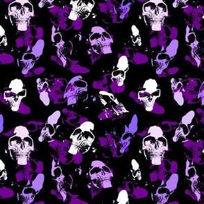 Skulls in violett
