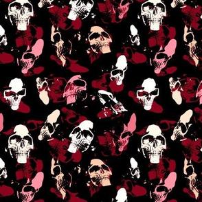 Skulls in red