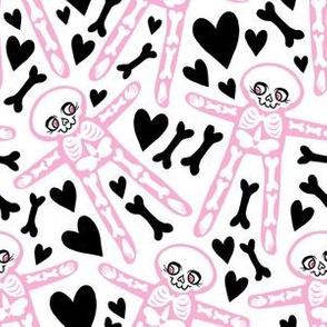 Skellies - Pink skeletons with black bones and hearts