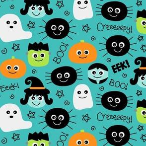 halloween cuties teal » halloween