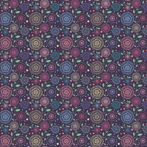 Flower garden, violett