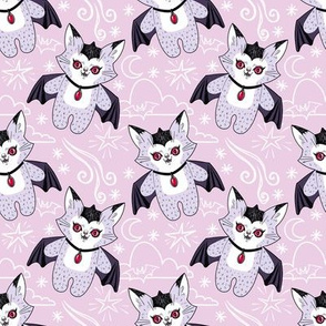 Val the Vampire Cat - pink version
