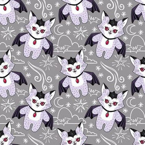 Val the Vampire Cat - grey version