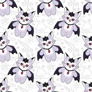 Val the Vampire Cat - white version