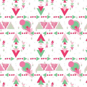 Watermelon inspired shapes