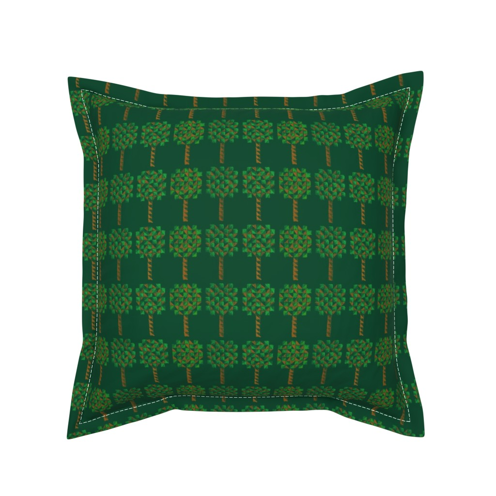 Serama Throw Pillow featuring Forest for the trees by jerseymurmurs