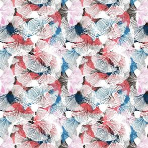 Delicate stylish pattern with ginkgo biloba leaves